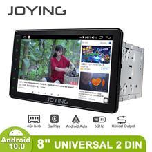 """Joying 2 din 8 """"universal jogador de rádio do carro gps navegação estéreo suporte 4g ips unidade de cabeça da tela 4gb + 64gb multimídia jogador dsp"""