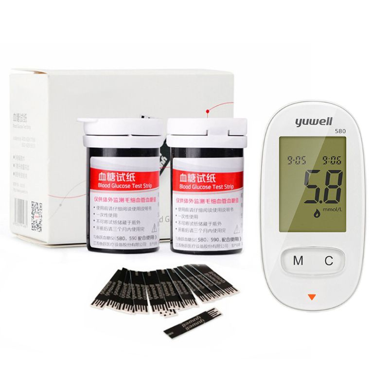 Automatic Household Blood Sugar Glucose Meter With 50Pcs Test Strips Glucometer Q81B