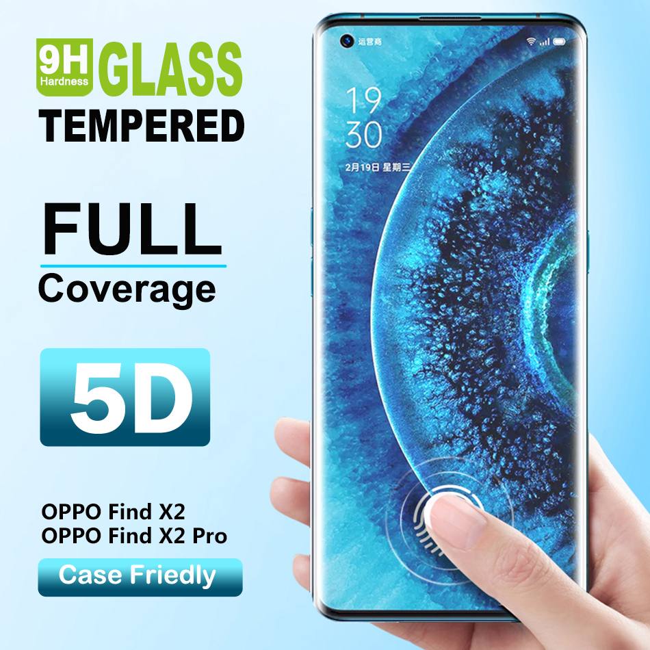 Find X2 Pro Full Coverage Protective Glass For OPPO Find X2 Pro Screen Protector Full Tempered Glass Film For Find X2