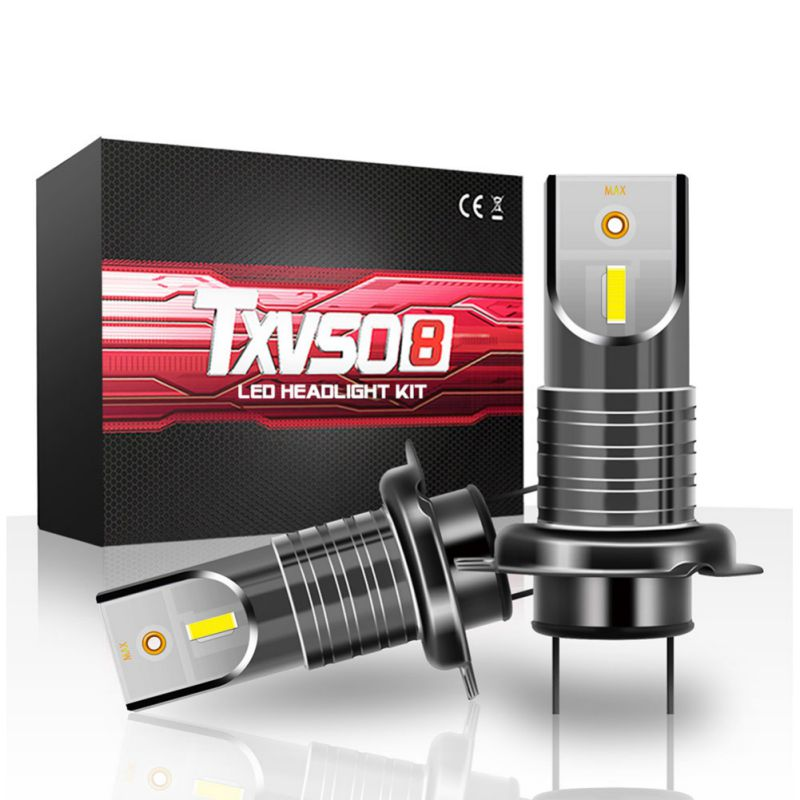 2PCS TXVS08 M7 H7 Car Headlight Bulbs Energy Saving Waterproof LED 26000LM <font><b>110W</b></font> 6000K White DC9V-32V New image