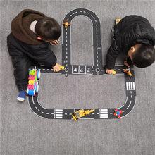 Trilha do carro quebra-cabeça brinquedo criança caminho de emenda estrada brinquedo taffic estrada crianças playmat brinquedos educativos para crianças jogos tapete