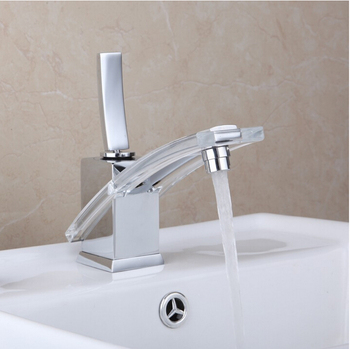 Vidric chrome  brass single lever hot and cold transparent bathroom sink faucet basin mixer