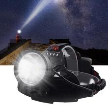 Super bright XHP 70 LED ซูมไฟหน้าแบบตกปลาการล่าสัตว์ที่มีประสิทธิภาพไฟฉายไฟฉายไฟฉาย