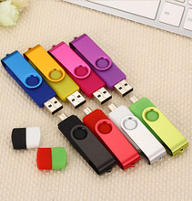 OTG rotating usb flash drive USB 8g 16gb pendrive 32gb 64gb 128gb memory stick new fashion Pen drive for computer retail package(China)