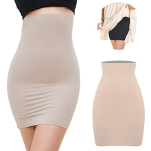 High Waist Tummy Control Slips Woman Seamless Slimming Half Slip Underwear Shapewear Body Shaper Underdress Petticoat Shapers