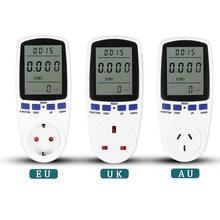 Ue/royaume-uni/AU Plug numérique tension wattmètre consommation Watt énergie KWh prise 220V AC frais d'électricité analyseur moniteur