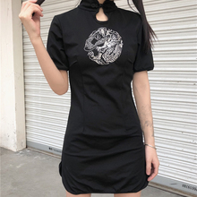Вышивка Cheongsam китайское платье для женщин Повседневное Дракон вечерние Qipao Готический уличная Vestidos азиатская одежда Kawaii для девочек
