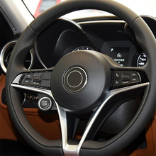 цена на Carbon Fiber Steering Wheel Frame Cover Trim for Alfa Romeo Giulia 2017-2019 Interior Decoration Car Accessories Car Sticker