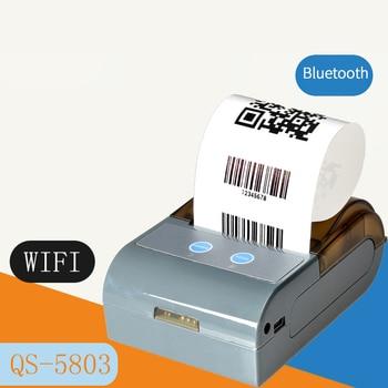 P5803 POS Bluetooth Printer Mobile Mini Portable Thermal Receipt Printer Handheld Pos Printers Bluetooth for Android IOS EU Plug