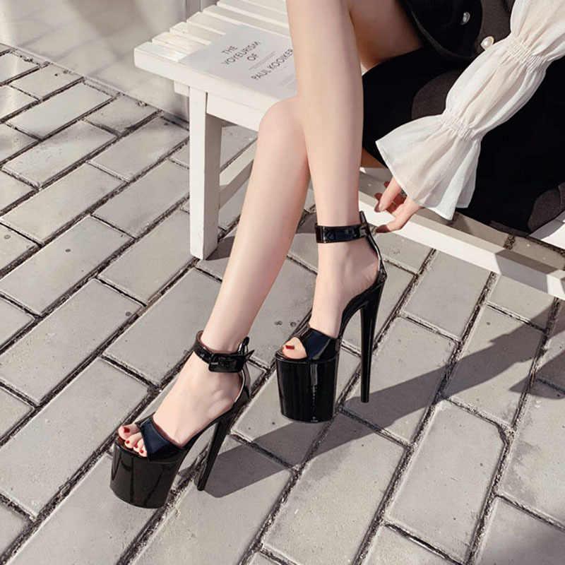 LTARTA 2020 balık ayak platformu süper yüksek topuklu sandalet modeli T 20CM sahne podyum 35 41 büyük boy yüksek topuk sandalet JXQ