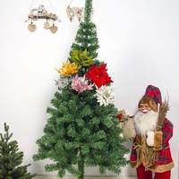 1 Christmas Artificial Flowers Maple Leaf For Christmas Tree Decoration Party OrnamentsDecoration Party Ornaments