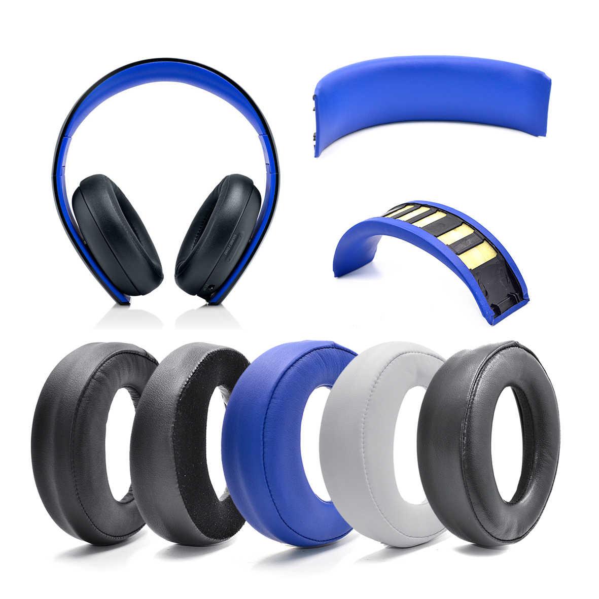 Earpads Ear Pads Cushion Headband Sheepskin Pads For Sony Playstation Ps3 Ps4 Ps Gold Wireless Cechya 0083 Stereo 7 1 Headphone Aliexpress
