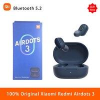 Xiaomi Redmi AirDots 3 auriculares Bluetooth inalámbrico Mi verdadero 5,2 auriculares estéreo bajo con micrófono de enlace inteligente usar Control táctil