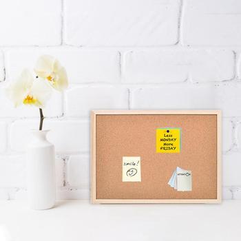 De doble cara de foto junta tipo colgante de pared de fotos corcho Junta nota junta de la Oficina para el hogar escritorio cubículo