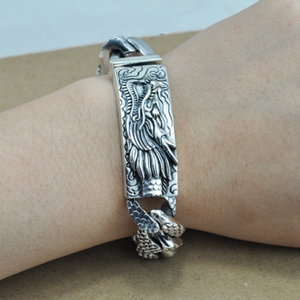 Image 5 - 16mm S925 Sterling Silver Big Dragon Bracelet Man Thai Silver Vintage Exquisite Dragon Chain Bracelet Male Jewerly Gift