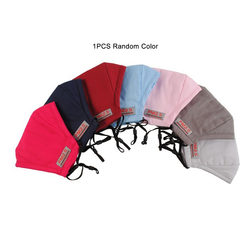 PM2.5 Anti-fog And Dust-proof Adult Cotton Mask Pluggable Filter Random Colors