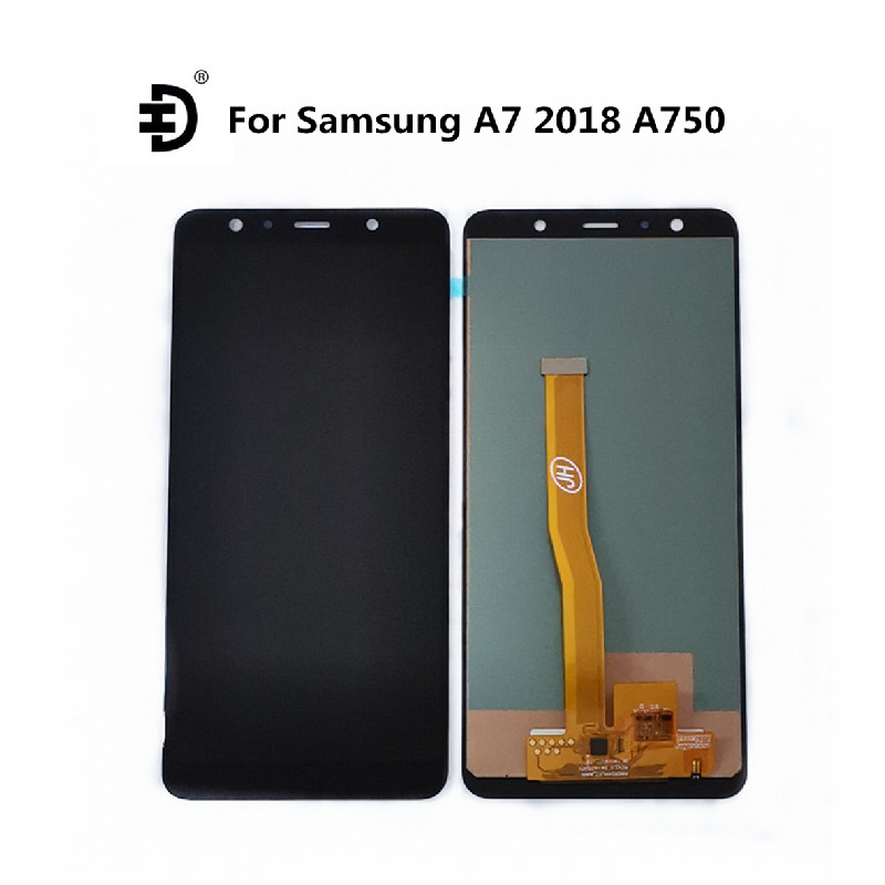 TFT LCD For <font><b>Samsung</b></font> <font><b>Galaxy</b></font> <font><b>A7</b></font> <font><b>2018</b></font> A750 LCD <font><b>Display</b></font> Touch Panel Digitizer Assembly For <font><b>SAMSUNG</b></font> SM-A750F A750FN A750G LCD Screen image