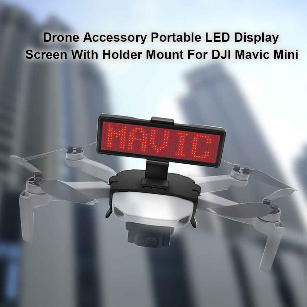 Drone Accessory With Holder Mount ABS Portable Outdoor Board Bracket LED Display Screen DIY Graphic For DJI Mavic Mini