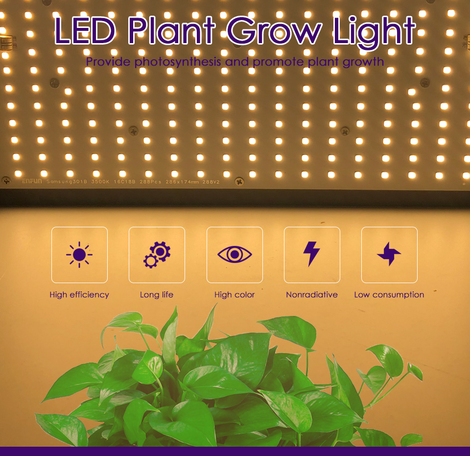 Quantum BoardLED Grow LightSamsung LM301Bfull spectrum cob 240W Draw
