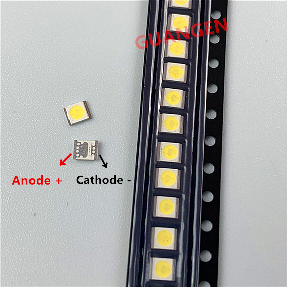 500pcs Original For SEOUL <font><b>LED</b></font> LCD TV backlight lamp beads lens 1W 3v 3528 <font><b>2835</b></font> 350MA cool white light bead High quality For <font><b>LG</b></font> image