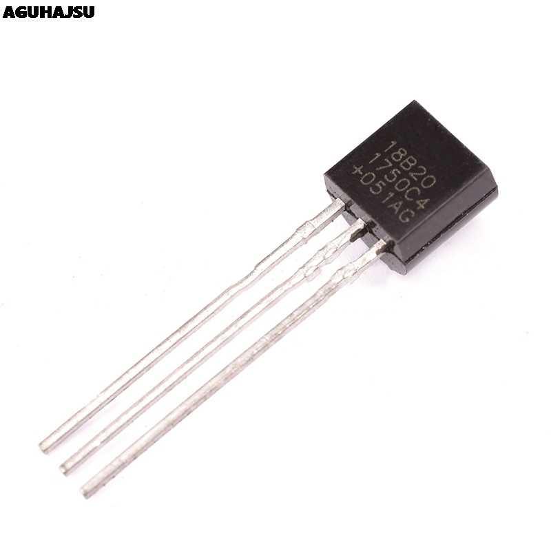 1 قطعة DS1820 المقاوم للصدأ حزمة مقاوم للماء DS18b20 درجة الحرارة درجة حرارة المسبار الاستشعار 18B20 لاردوينو