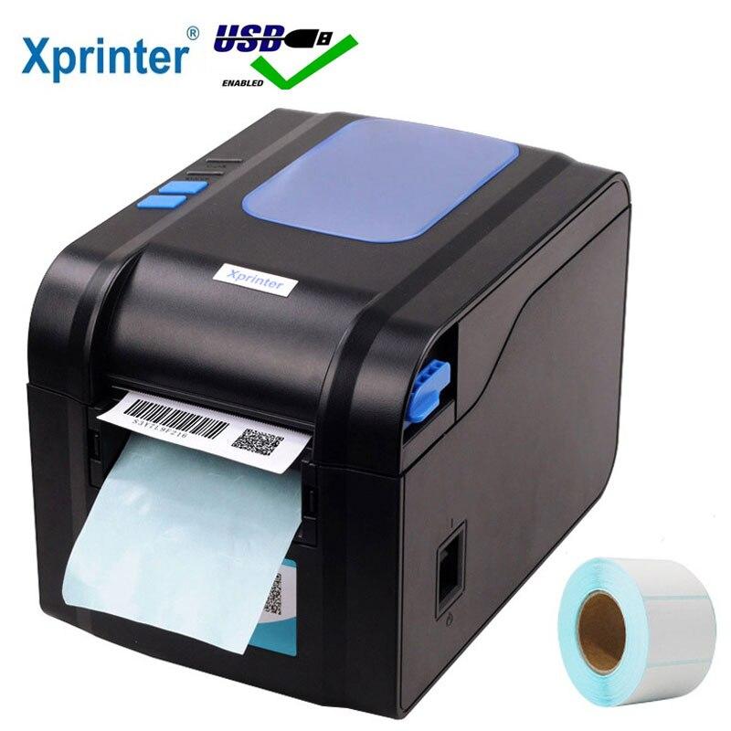 Бесплатная доставка Xprinter 3-дюймовый Термопринтер для этикеток Принтер для штрих-кодов Qrcode принтер для наклеек