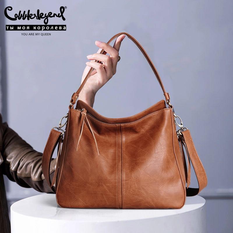 Cobbler Legend Vintage Handbags For Women Genuine Leather Shoulder Bag Female Crossbody Hobos Bag Ladies Tote 2019 Designer
