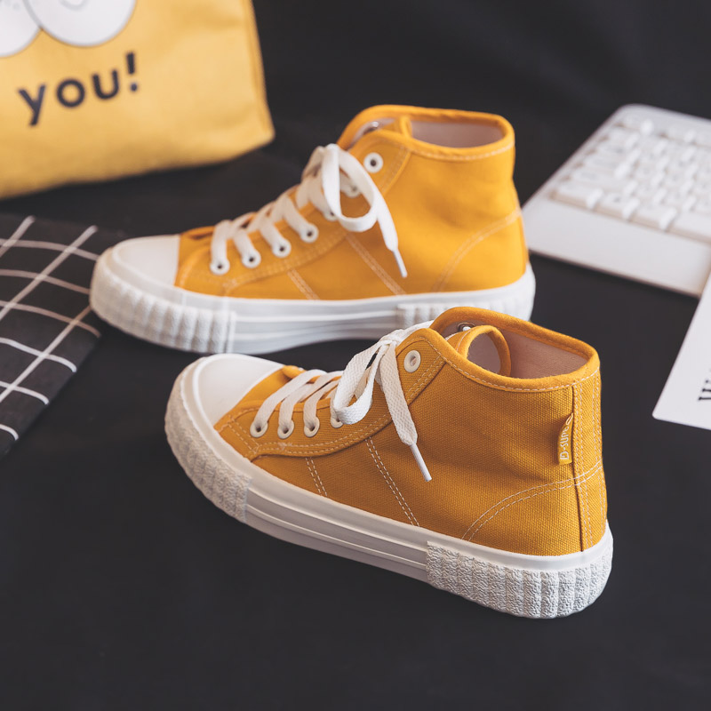Woman Sneakers 2020 Spring High-top Shoes Flat Women's Shoes New Fashion Comfortable Casual Sneakers Female White Shoes