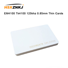 5шт карточка em4100 карточка tk4100 125 кГц 0,85 мм тонкие карты контроля доступа карты брелок RFID метки стикер брелок маркерное кольцо чип Proximity