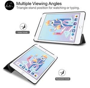 Image 5 - For iPad Mini 4 5 2019 Case with Pencil Holder, for iPad Mini 1 2 3 Silicone Cover, Stand PU Leather Funda Auto Sleep  Capa