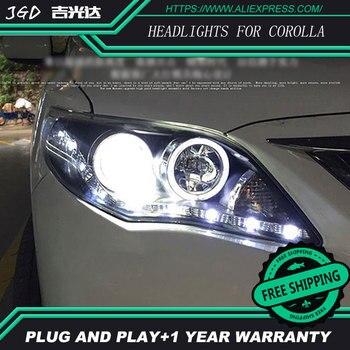 Car Styling Head Lamp for TOYOTA COROLLA 2011-2013 Headlights LED Headlight ANGEL EYES DRL Bi-Xenon Lens HID