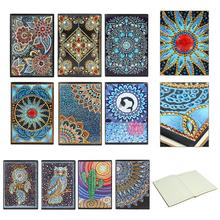 DIY Creative Special Shaped Diamond Painting Notebook Diary Book 60 Page A5 Notebook Embroidery Diamond Cross Stitch Craft Gift a5 notebook spiral filler papers index page loose leaf paper core hand book classification separate sub page planner refill