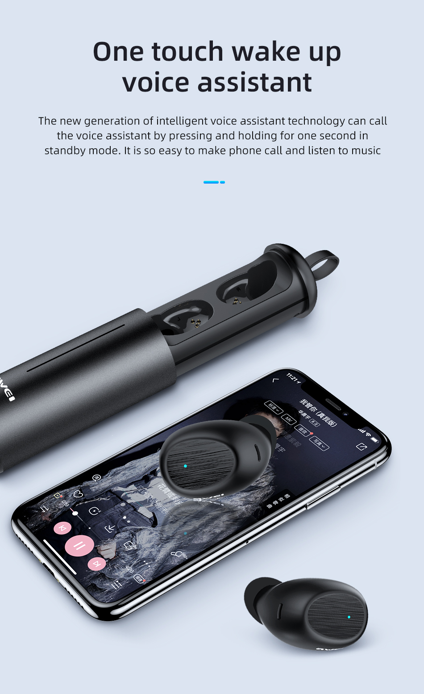 AWEI T55 TWS Wireless Earbuds Bluetooth 6