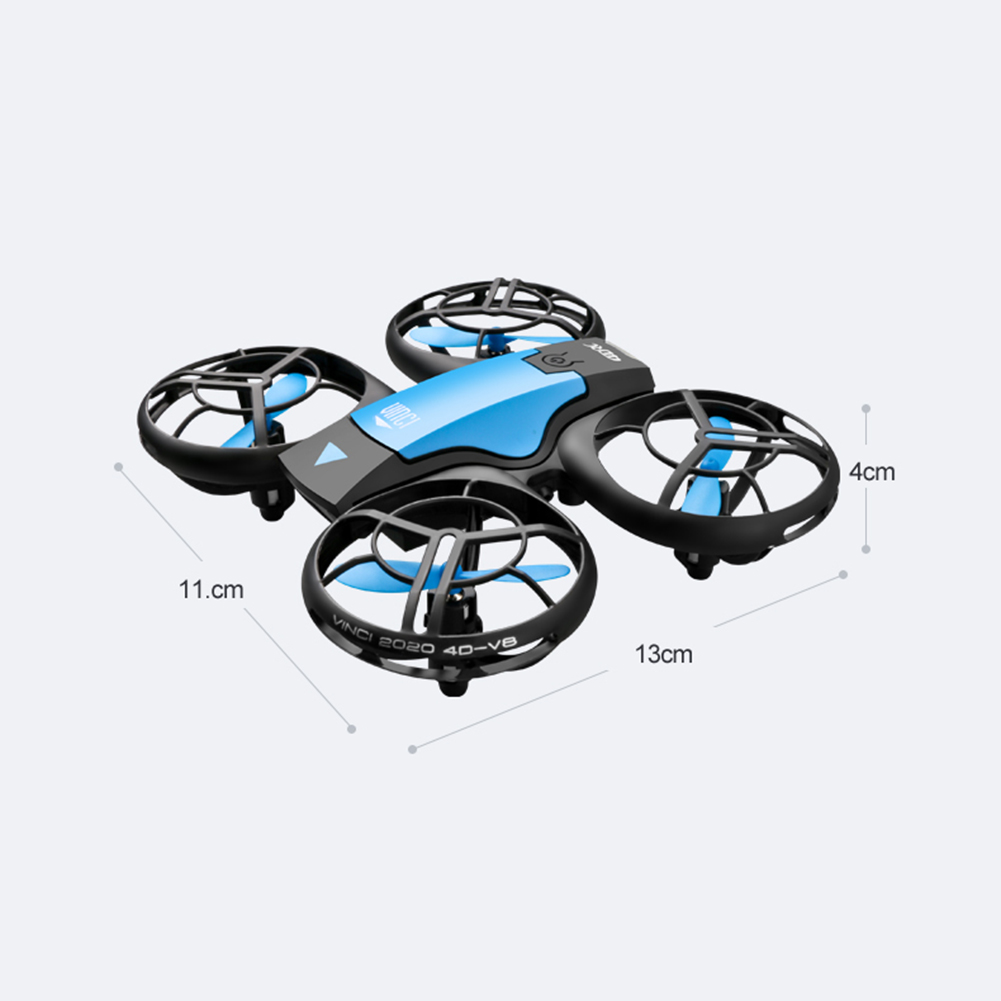 H1910bbfca5444299adff4c9ef3b2e5adH - New V8 Mini Drone 4K 1080P HD Camera WiFi Fpv Air Pressure Height Maintain Foldable Quadcopter RC Dron Toy Gift