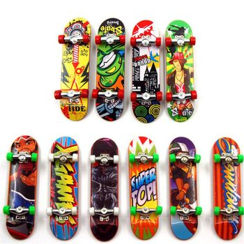 2pcs High Quality Cute Party Favor Kids children Mini Finger Board Fingerboard Alloy Skate Boarding Toys Gift - discount item  19% OFF Novelty & Gag Toys