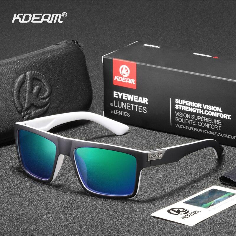 KDEAM Long Lasting 100% UV Protection Men Sunglasses Polarized Rectangle Shades 8 Layers Coating Sun Glasses Polarization