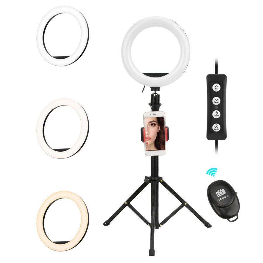 cheapest Ne Photo LED Selfie Stick Ring Fill Light Dimmable Camera Phone Ring Lamp with Stand Tripod for Makeup Video Live Studio