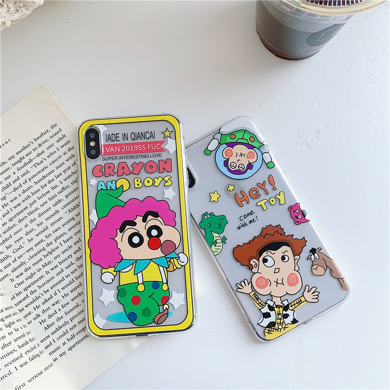 IRONGEER Funny Cartoon Crayon Shinchan <font><b>Toy</b></font> <font><b>Story</b></font> Phone Case for <font><b>IPhone</b></font> 11 Pro Max 7 8 <font><b>6</b></font> 6s Plus Xr X XS TPU Back Case <font><b>Fundas</b></font> image