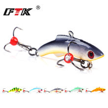 FTK Ice Fishing Lure 15g 20g 30g 5colors Winter Bait Hard Lure Carp Fishing hooks Balancer for Fishing Baits Lead Jigging(China)