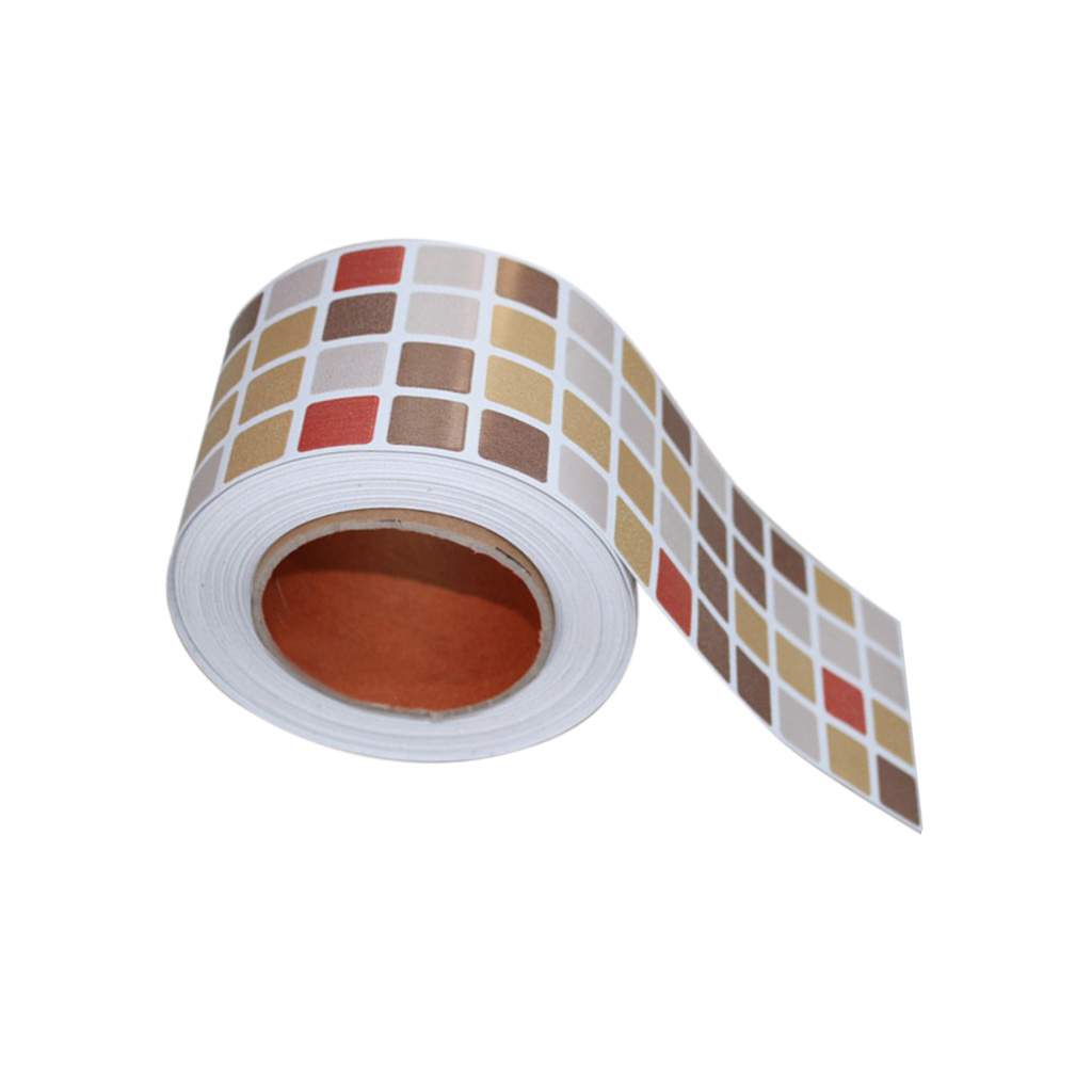 Self Adhesive Mosaic Tile Stickers Kitchen Bathroom Waist Line Wall Stickers, Peel and Stick, Waterproof