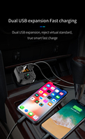 fm tf Car Charger with FM Transmitter Bluetooth 5.0 Receiver Audio MP3 Player TF Card U disk Car Kit Dual USB Car Phone  Fast Charger (2)