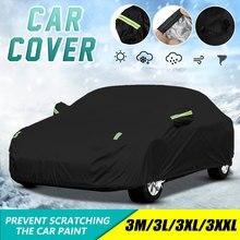 Full-Car-Cover Black Waterproof 190T Sunscreen Universal Outdoor Anti-Uv XL/XXL