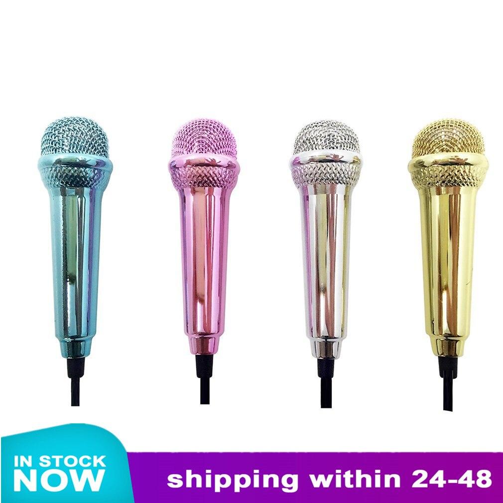 Новинка, 1 шт., проводной мини-микрофон 3,5 мм для планшетов, ноутбуков, речи, петь, 4 цвета, Новинка