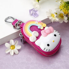New Hello-Kitty Key Bag Fashion Cute Leather Key Storage Bag High Quality Car Key Storage Cover