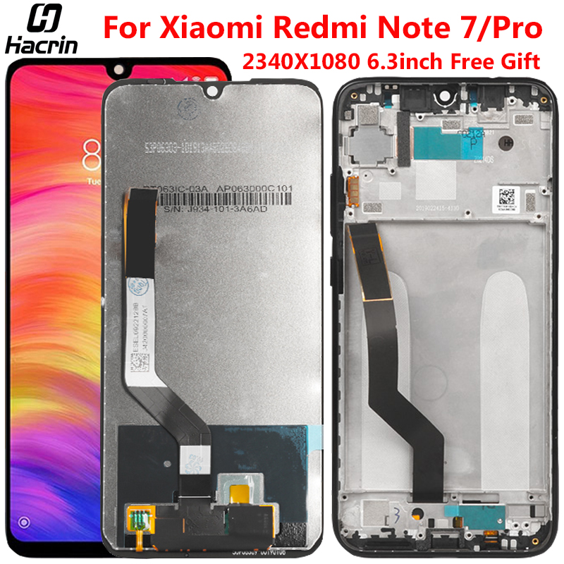 Display For Xiaomi <font><b>Redmi</b></font> <font><b>Note</b></font> <font><b>7</b></font> <font><b>LCD</b></font> Display With Frame Digitizer Assembly Replacement Touch Screen For <font><b>Redmi</b></font> <font><b>Note</b></font> <font><b>7</b></font> <font><b>Pro</b></font> <font><b>LCD</b></font> image