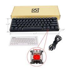 GK61 SK61 61 klawiszy mechaniczna klawiatura USB przewodowa podświetlany diodami LED osi mechaniczna klawiatura gamingowa na pulpicie L & K Dropship
