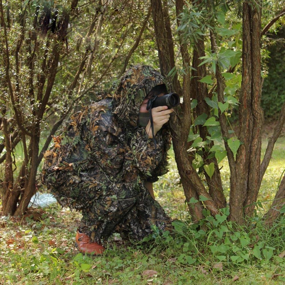 Caça ao ar livre ghillie terno floresta