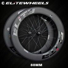 エリートカーボンホイール 700cロードバイクA1 エアロブレーキ面管状クリンチャーチューブレスtpiベアリングストレートプル 4 爪ハブ一眼レフ 3.0