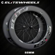 Elite węglowe koła 700c rower szosowy A1 AERO powierzchni hamowania bezdętkowe Clincher Tubular TPI łożyska prosto Pull 4 zapadki centrum SLR 3.0
