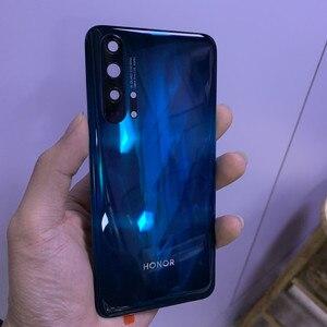 Image 1 - Original กระจกนิรภัยฝาหลังแบตเตอรี่ + แฟลช + เลนส์สำหรับกล้อง Huawei Honor 20 Pro บริการอะไหล่